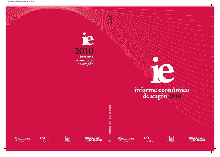 Informe Económico de Aragón 2010, Cámara de Comercio de Zaragoza.