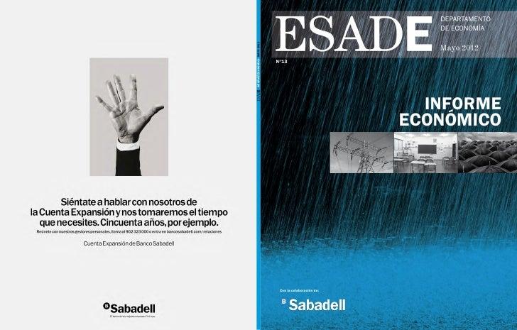 DEPARTAMENTO                                                             DE ECONOMÍAINFORME ECONÓMICO Mayo 2012          ...