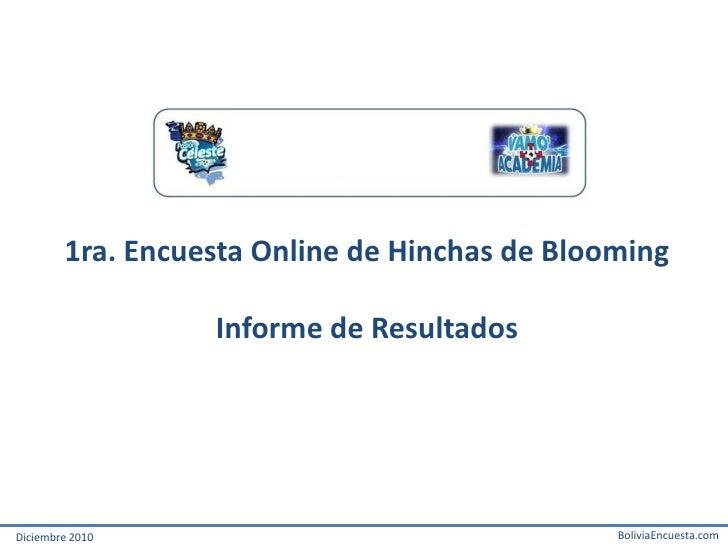 Informe Encuesta Hinchas Club Blooming - 2010