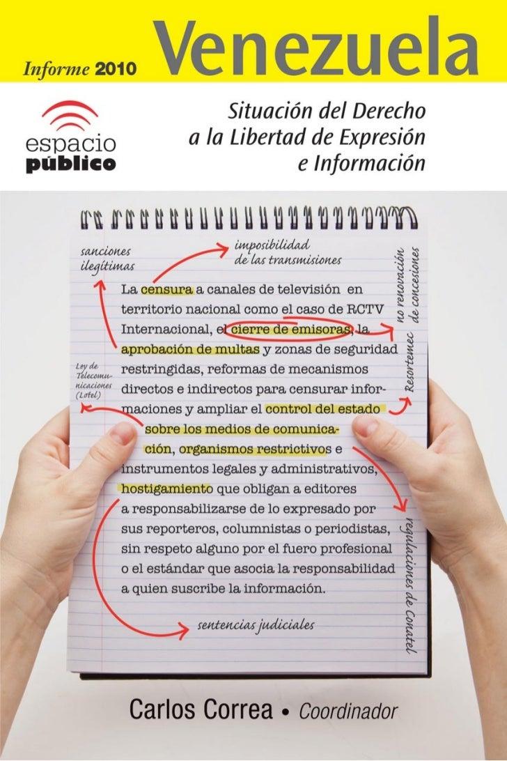 Informe 2010 Situación Libertad de Expresión en Venezuela
