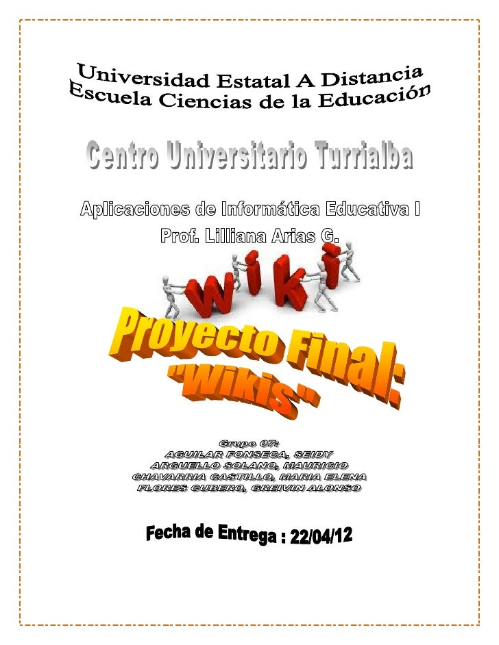 proyecto final: WIKI