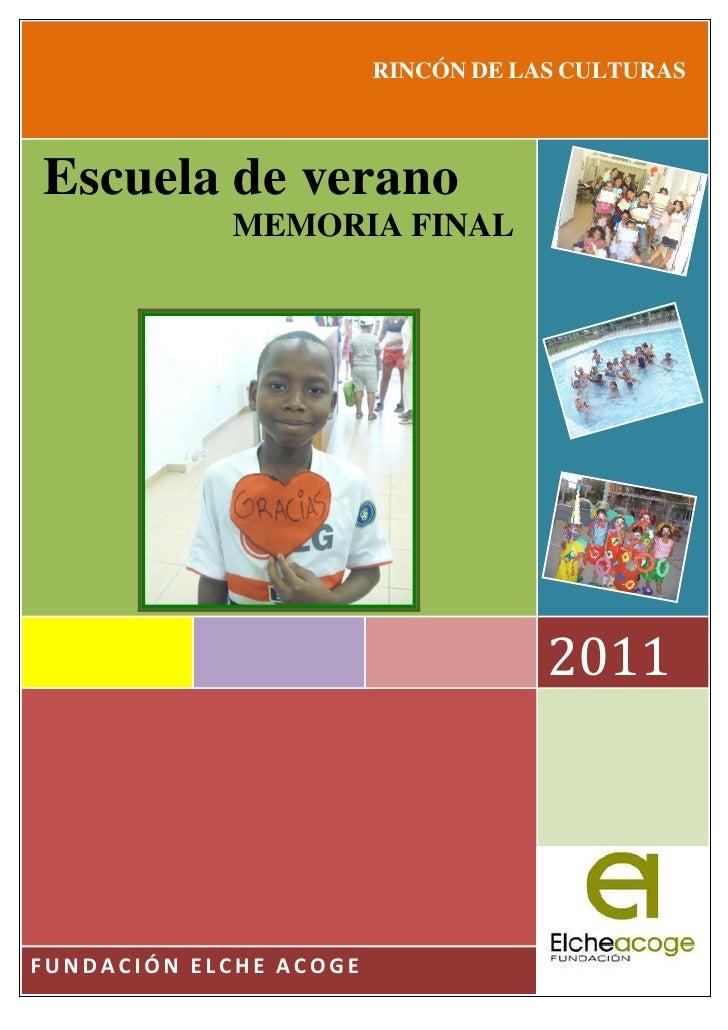 Informe escuela de verano Carrús 2011