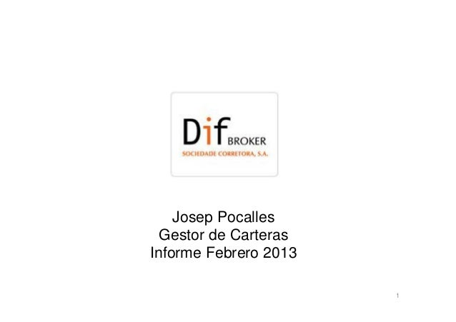 Informe febrero 2013