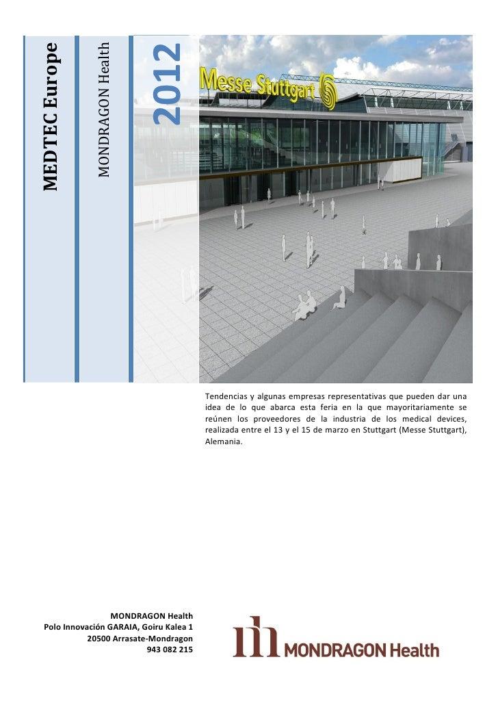 Informe feria medtec europe 2012