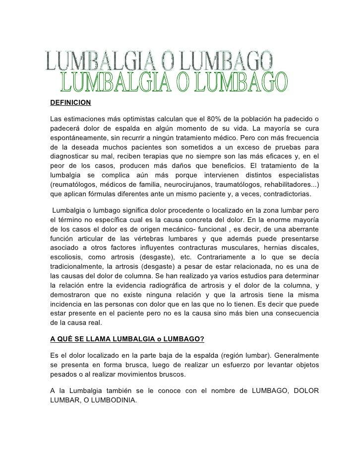 Informe final lumbalgia o lumbago