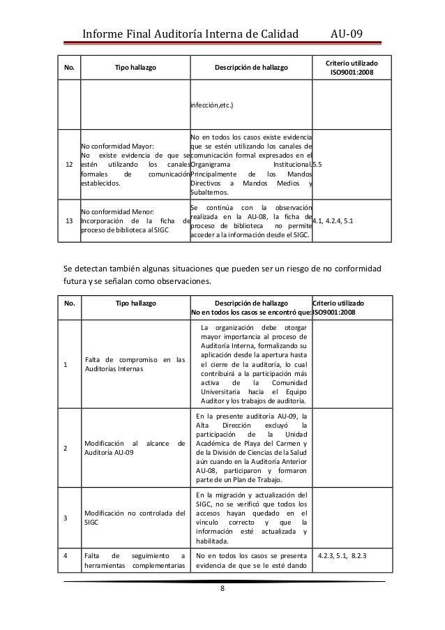 Plan de Auditoria Interna Final Auditoría Interna de