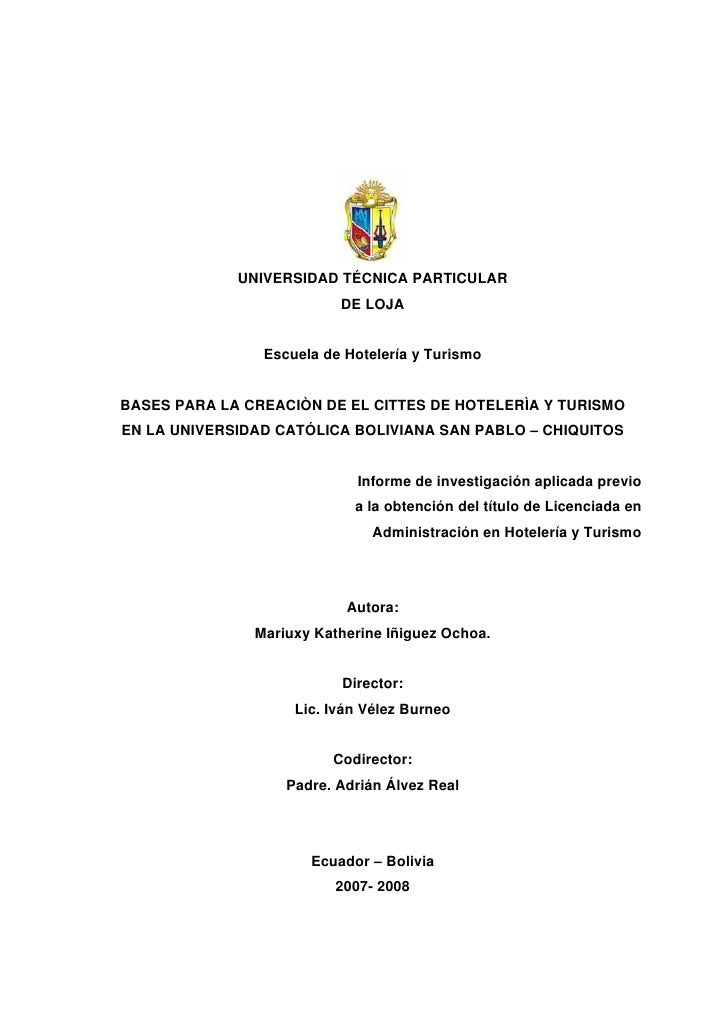 Informe Final Chiquitos Micha