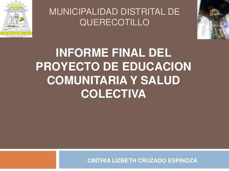 Informe final de brigadas comunales de salud