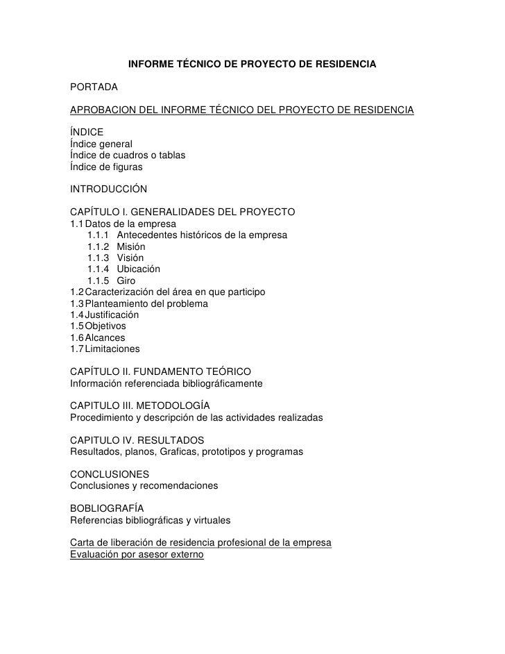 Informe Final De Residencia
