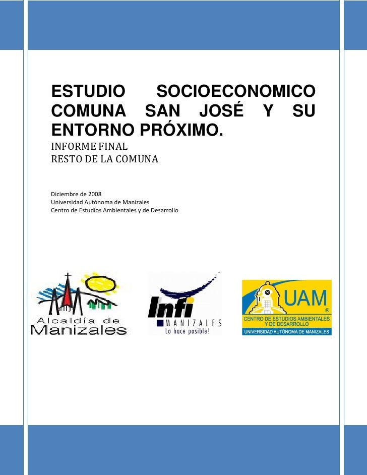Informe Final - Comuna San José - Resto de la Comuna