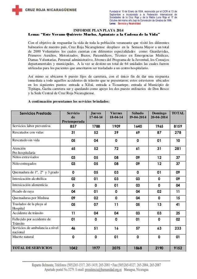 Informe final semana mayor  2014