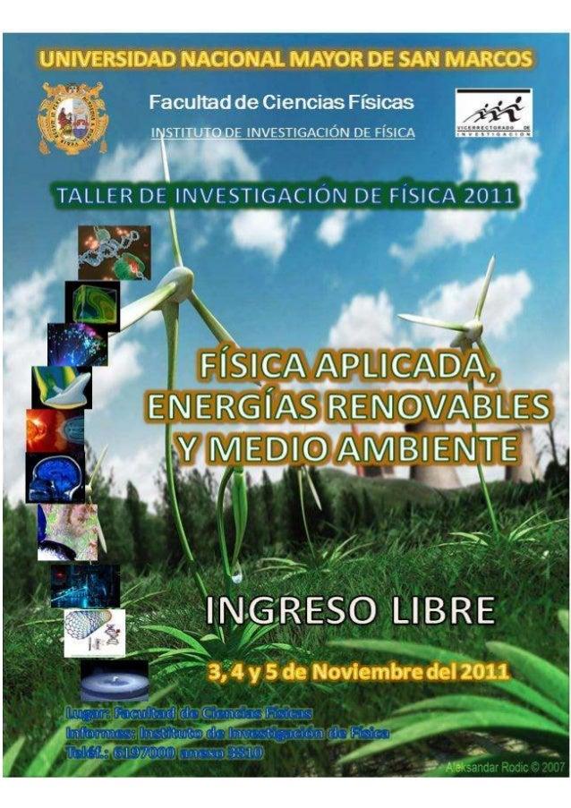 Informe Técnico del Taller de Investigación de Física 2011