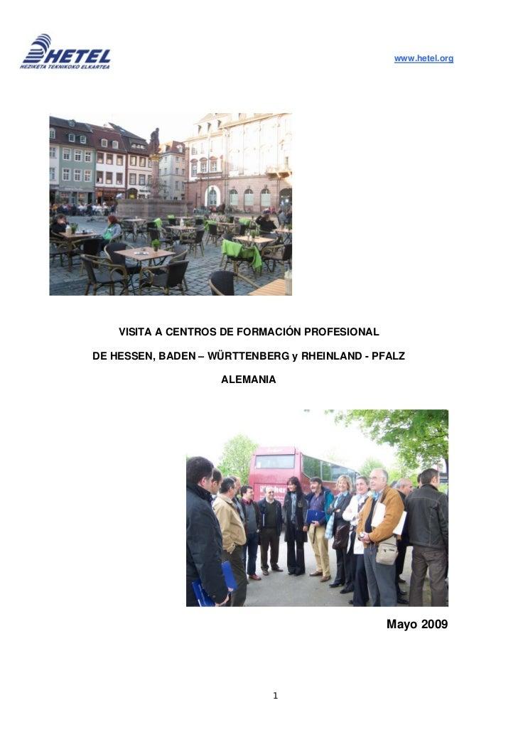 Txostena: Alemaniako LH ikastetxeak 2009/ Informe: centros fp alemania  2009