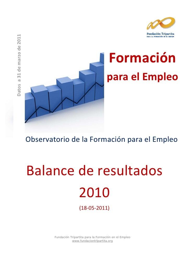 Informe formacion continua 2010