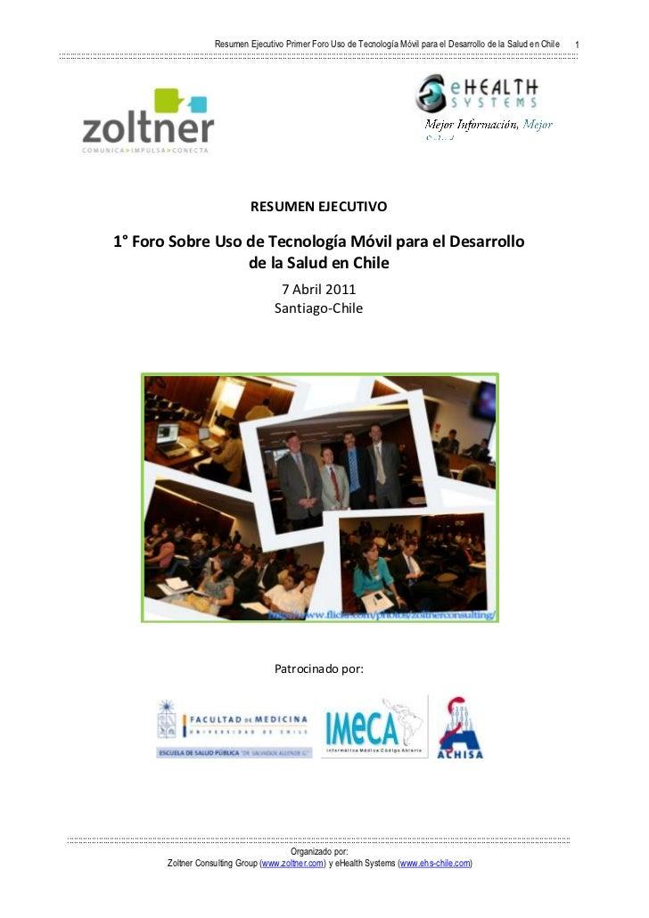Informe foro chileno uso tecnología móvil