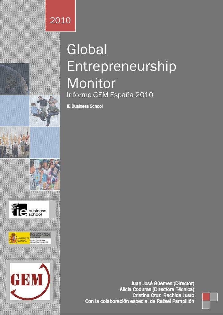 GEM 2010 - Global Entrepreneurship Monitor
