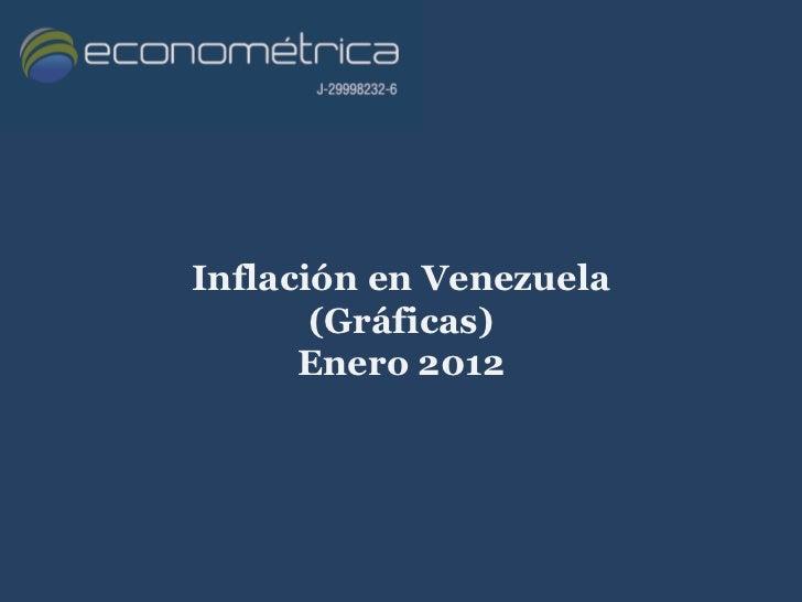 Inflación en Venezuela       (Gráficas)      Enero 2012