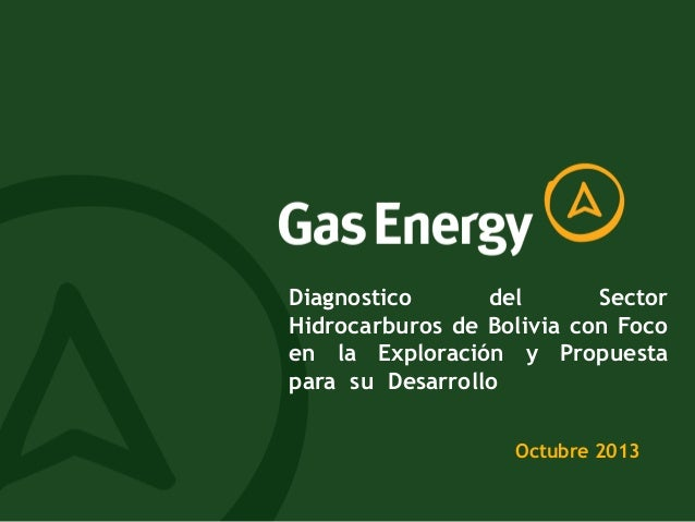Diagnostico del Sector Hidrocarburos de Bolivia con Foco en la Exploración y Propuesta para su Desarrollo Octubre 2013