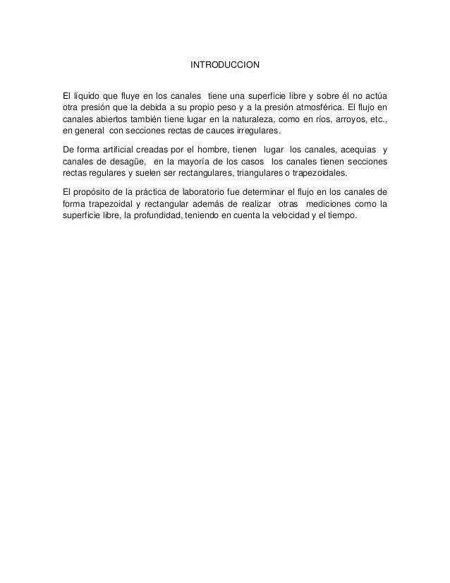Informe laboratorio de hidraulica