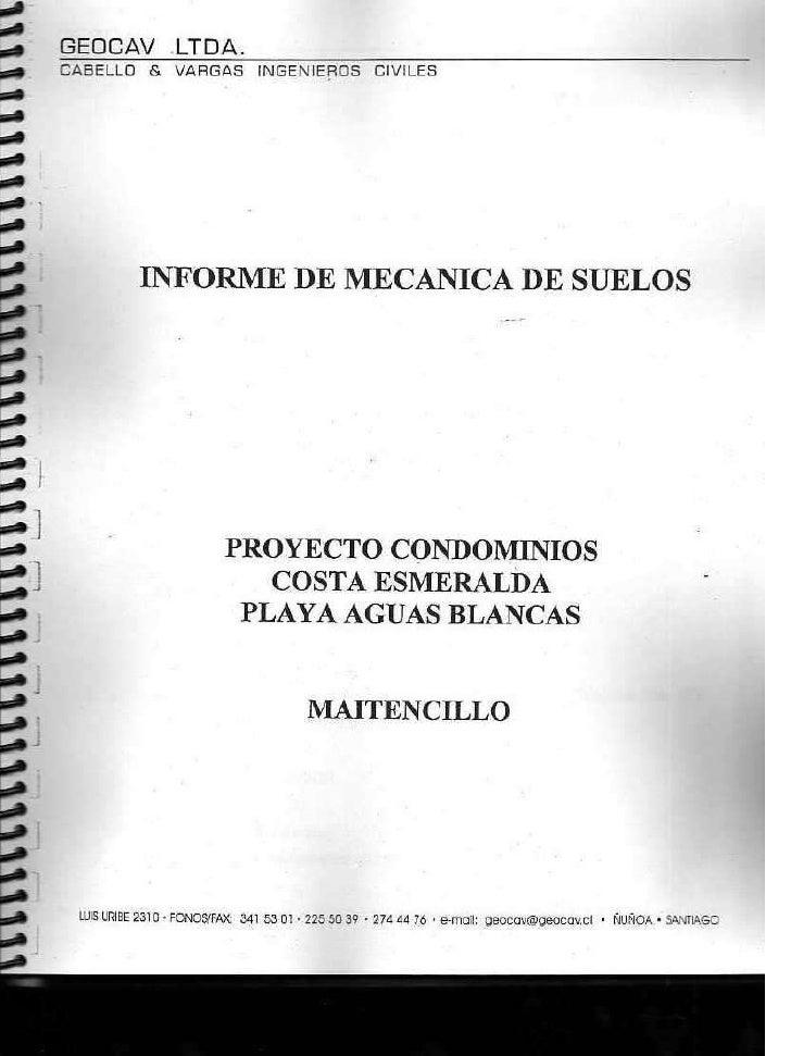 Informe MecáNica De Suelo