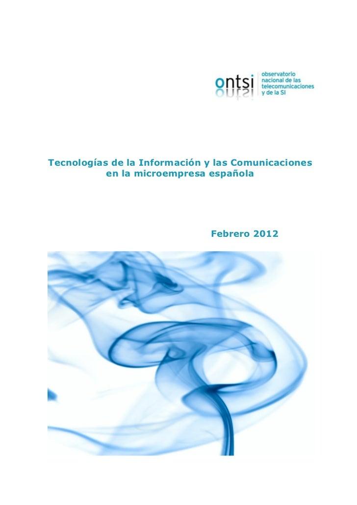 Informe Microempresas 2012 - ONTSI