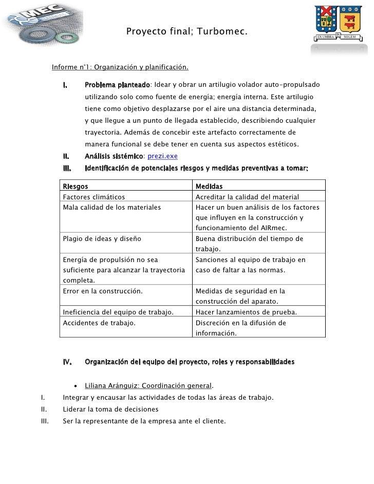 Informe n 1 ai rmec