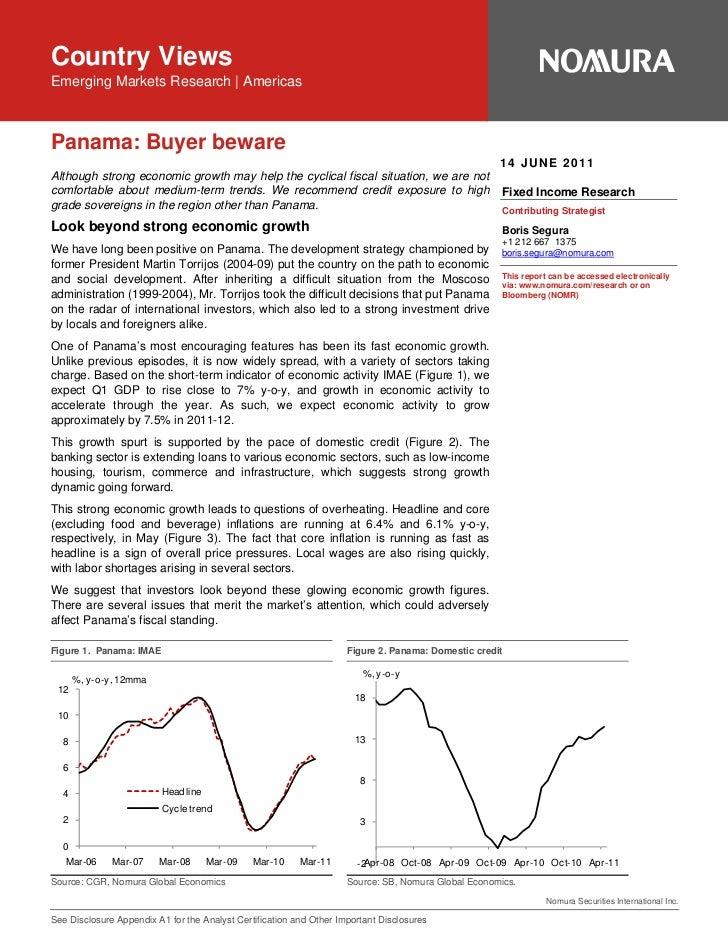 MGM MirageCountry ViewsCredit Research   United StatesEmerging Markets Research   AmericasPanama: Buyer beware            ...