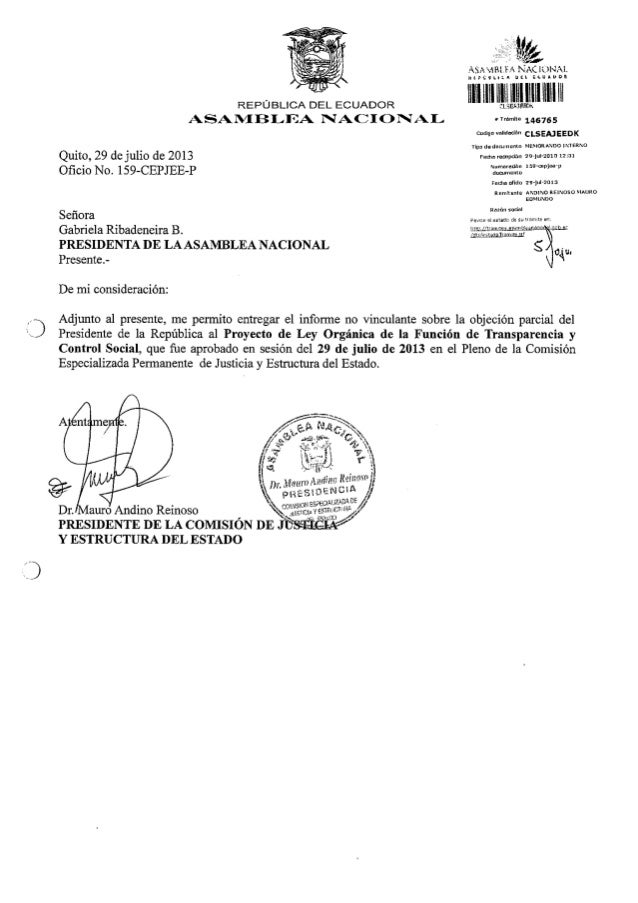 Proyecto de Ley Orgánica de la Función de Transparencia y Control Social