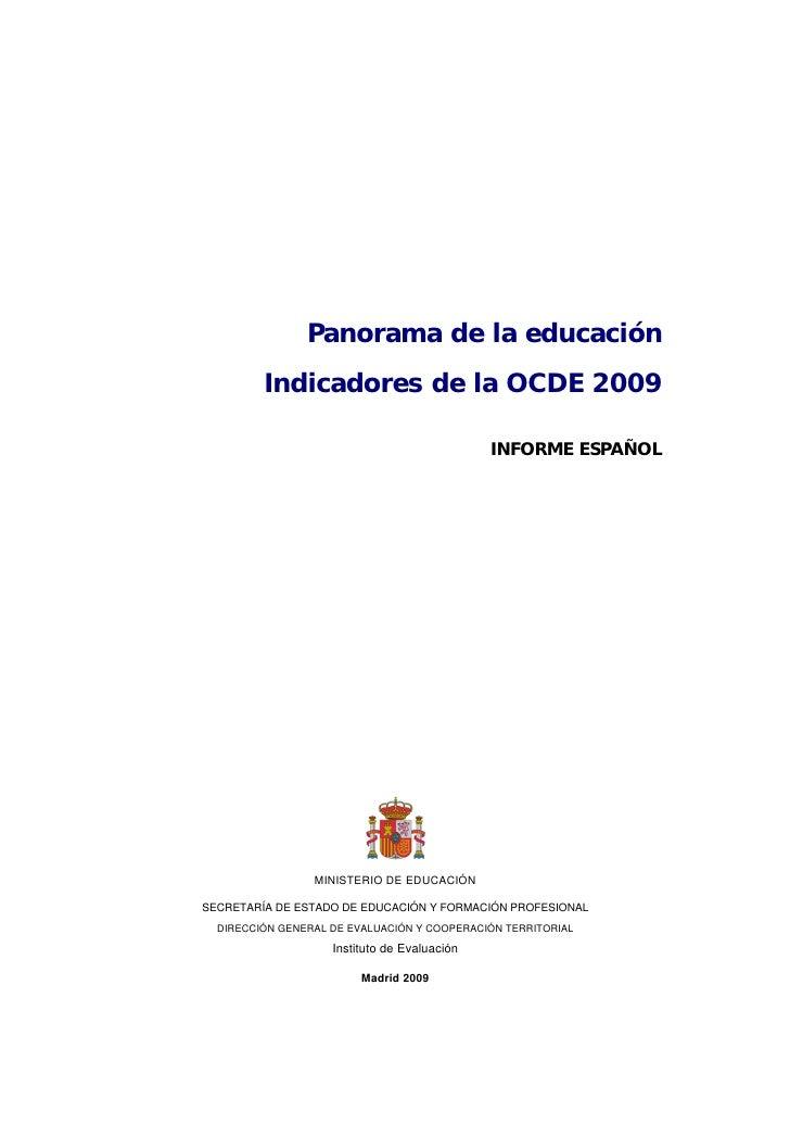 Informe ocde2009 españa