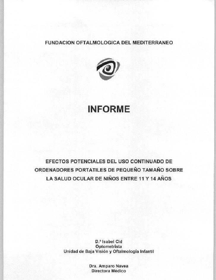 Informe Fundación Oftalmológica del Mediterráneo