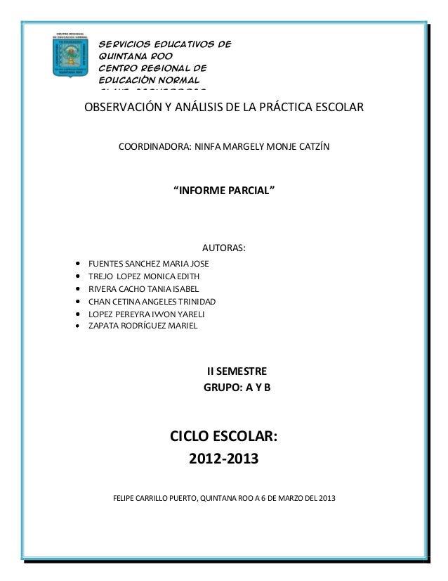 Servicios Educativos de  Quintana Roo  Centro Regional de  Educación Normal  Clave: 23DNE0002DOBSERVACIÓN Yen  Licenciatur...