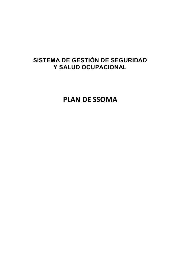 plan de seguridad salud medio ambiente