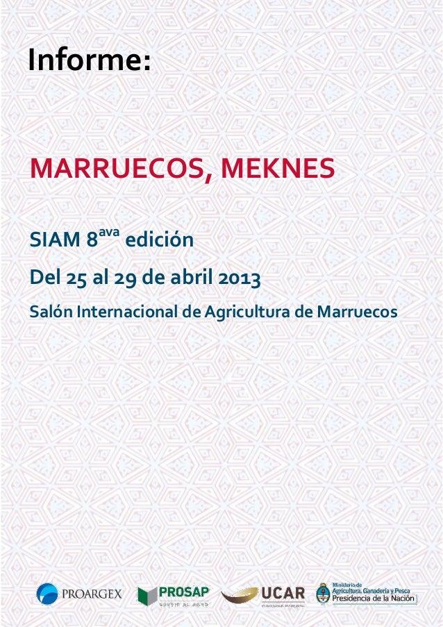 Informe preferia marruecos 2013