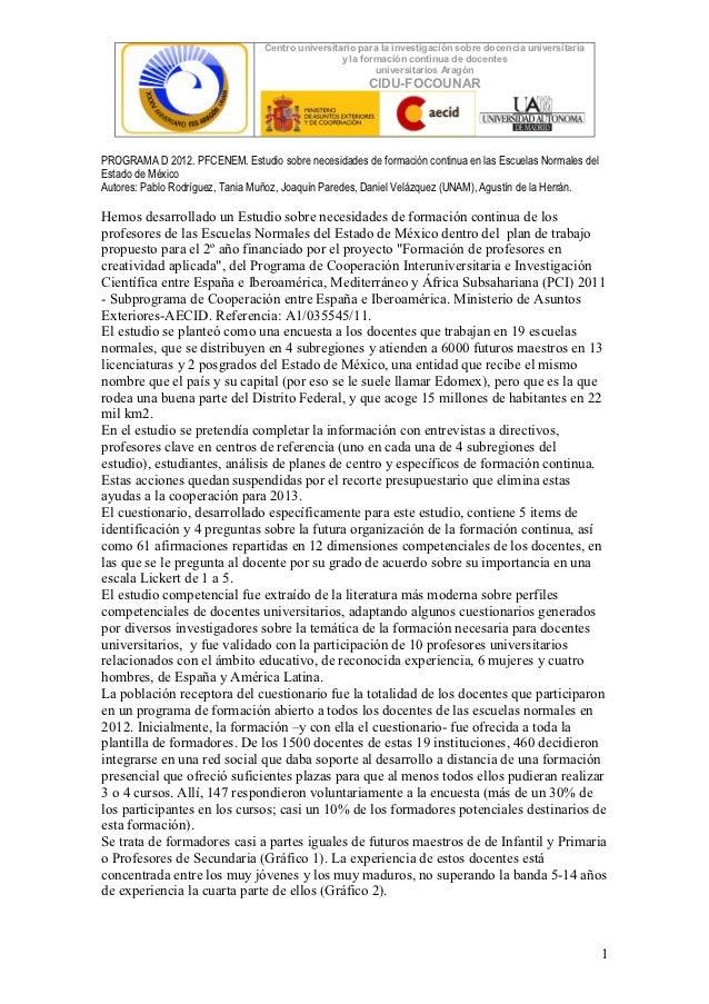 Informe preliminar necesidadesformativas_normalesedomex