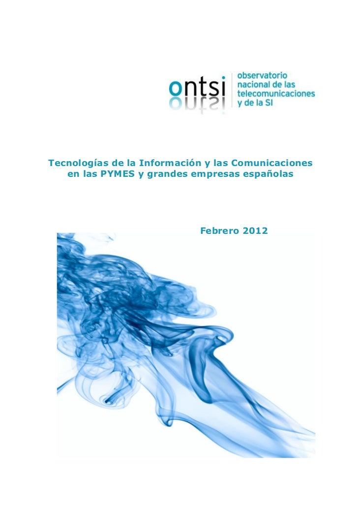 Informe Pymes y Grandes Empresas 2012 - ONTSI
