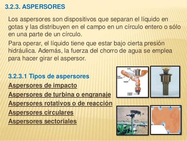 Informe riego por aspersion - Aspersores de riego ...