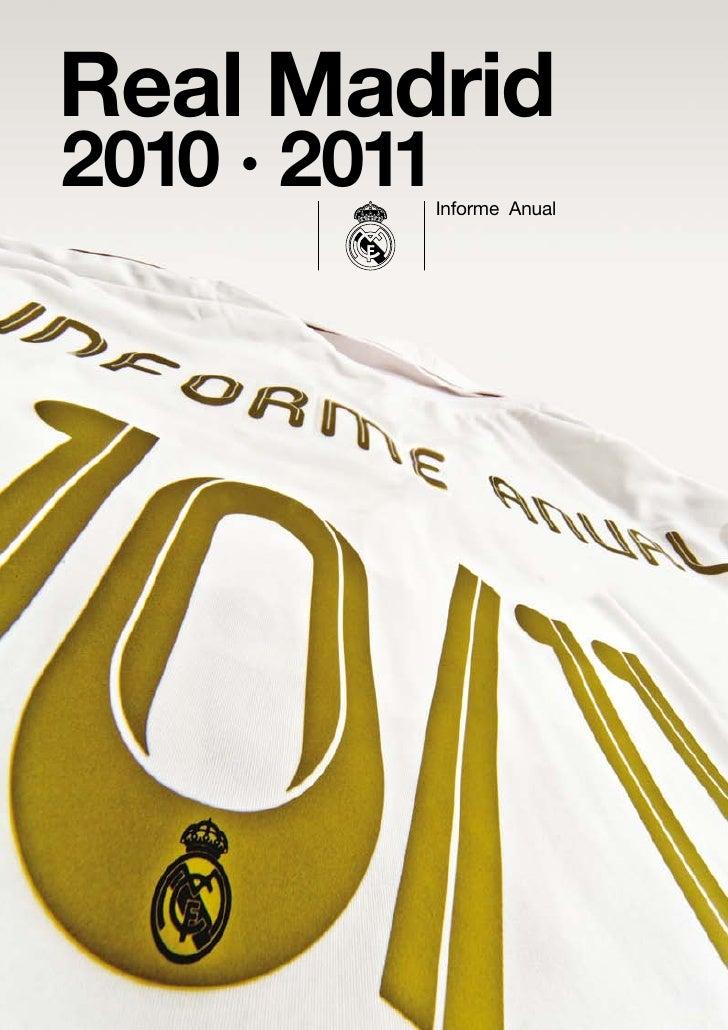Informe completo Real Madrid temporada 2010-2011