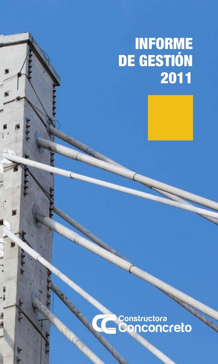 Informe de gestión3                                                                             2011                      ...