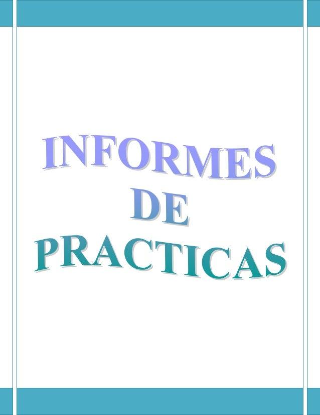 Informes de practicas