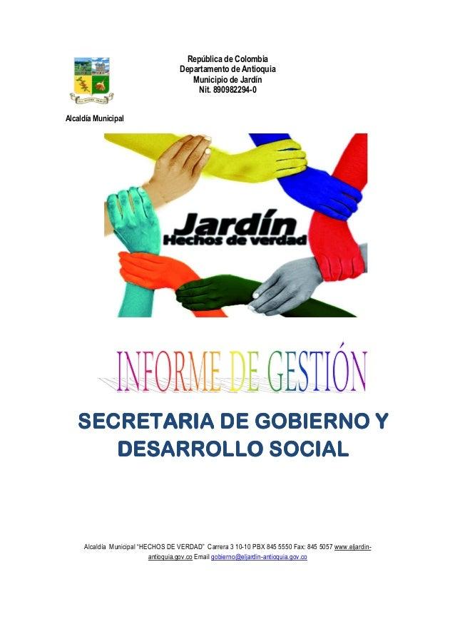 República de Colombia                                    Departamento de Antioquia                                       M...