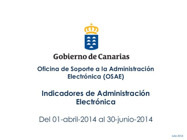 2. Detalle de las Actividades Oficina de Soporte a la Administración Electrónica (OSAE) Indicadores de Administración Elec...