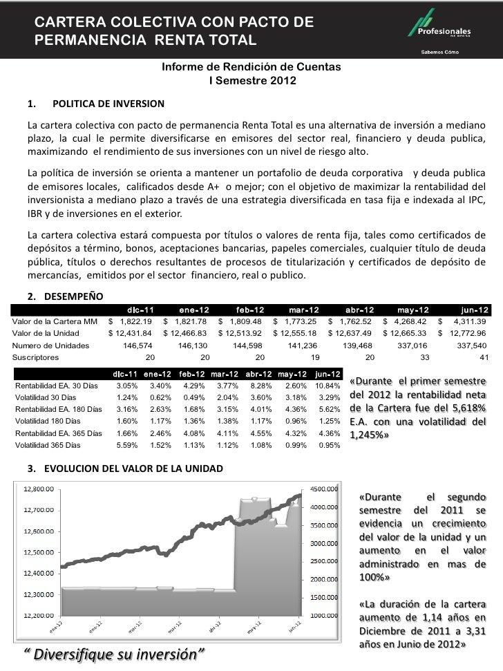 CARTERA COLECTIVA CONDE PERMANENCIA      CARTERA COLECTIVA CON PACTO      RENTA TOTAL                                  PAC...