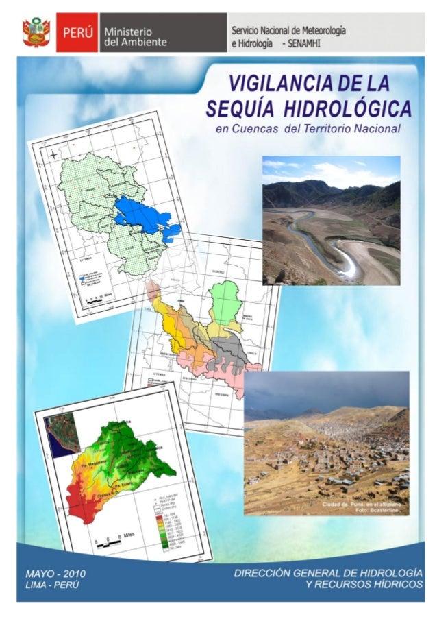 SERVICIO NACIONAL DE METEOROLOGÍA E HIDROLOGÍA                       SENAMHI        DIIRECCIIÓN GENERAL DE HIIDROLOGÍÍA   ...