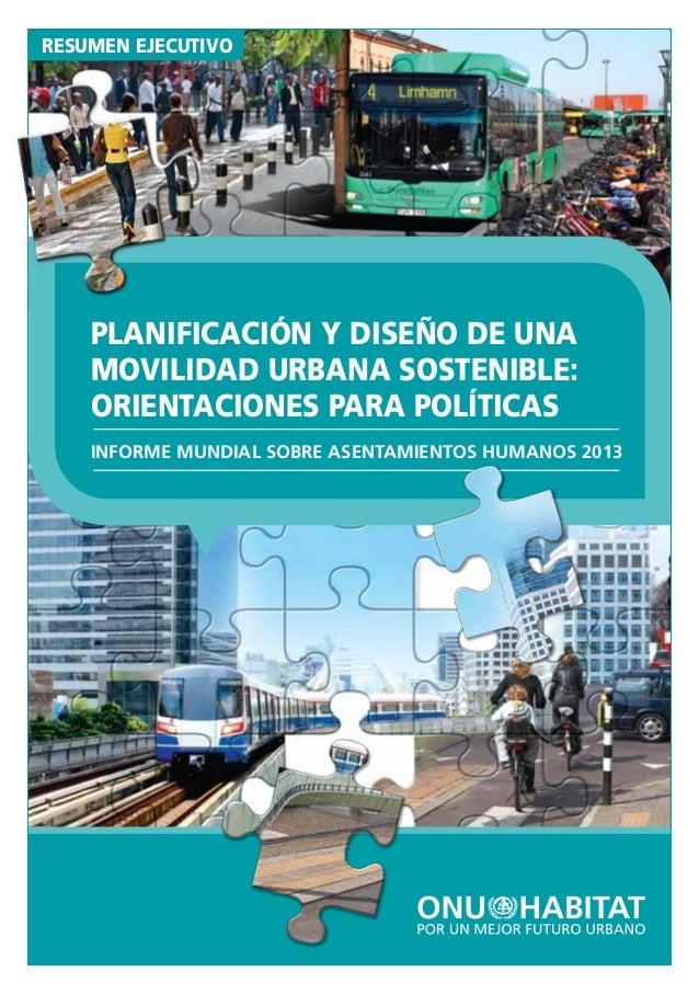 Informe sobre asentamientos humanos de un habitat 2013