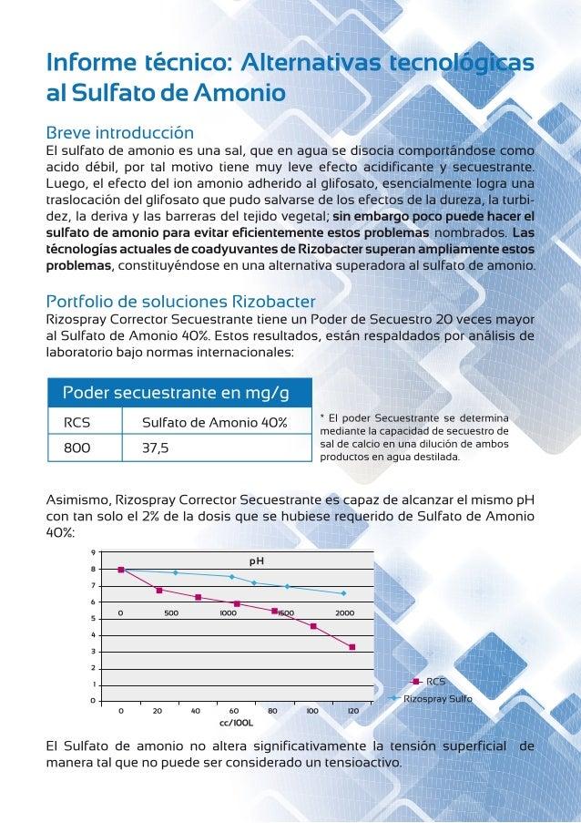 Informe SULFATO DE AMONIO