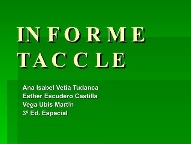 Informe taccle