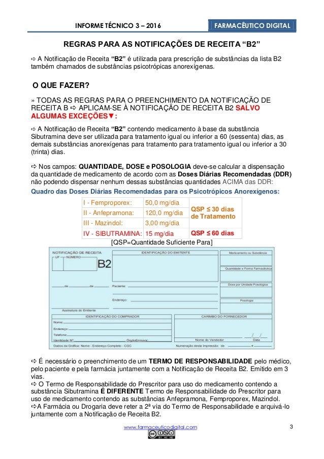Informe Técnico 03 Notificações de Receita B e B2