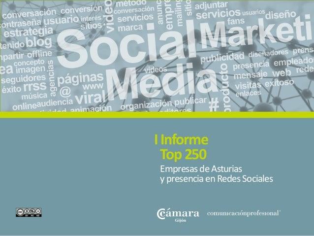 Informe TOP 250 Asturias #socialmedia