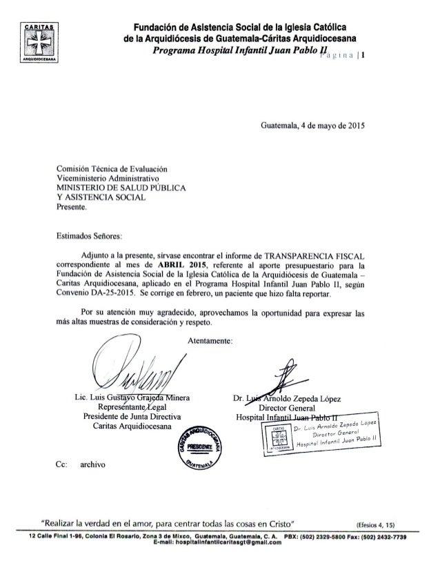 ARA' Fundación de Asistencia Social de la Iglesia Católica E  de ia Arquidiócesis de Guatemala-Cáritas Arquidiocesana  Pro...