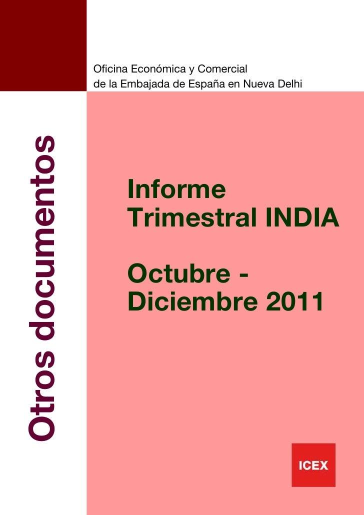 ICEX Informe trimestral india, octubre diciembre 2011